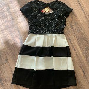 Speechless NWT Black & White Dress